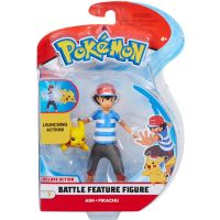 Pokemon Battle Feature Figure: Ash & Pikachu - Deluxe Figure